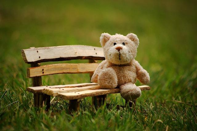 medvídek na lavičce