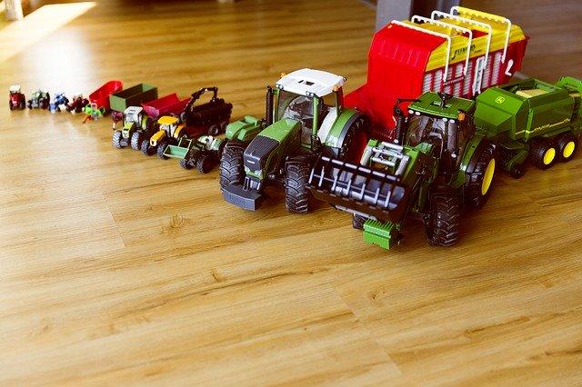 hračky v dětském pokoji